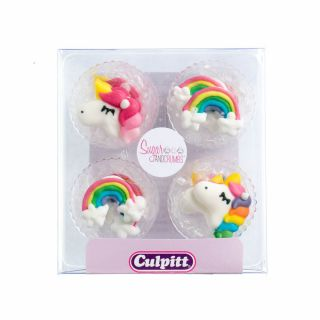 Culpitt Sugar Pipings UNICORNS Pack of 12