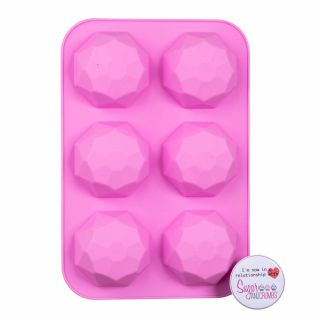 Sugar and Crumbs Chocolate Mould Half Geometric Ball Sphere