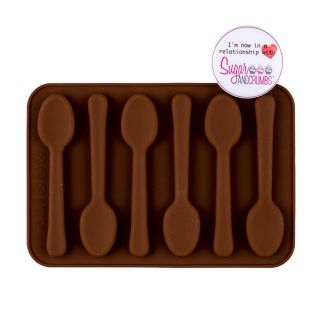 Sugar and Crumbs Chocolate Mould Mini Spoons