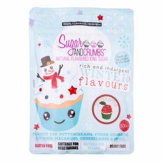 Sugar and Crumbs Natural Flavoured Icing Sugar TOFFEE APPLE 500g