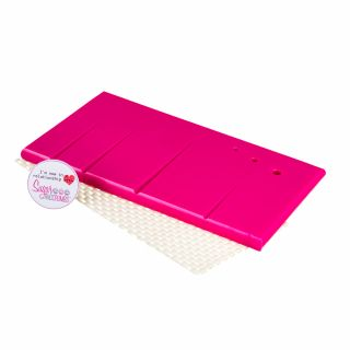 Sugar and Crumbs Pink Sugarcraft Veining Board