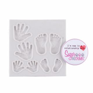 Sugar and Crumbs Silicone Mould Baby Feet and Hands.2