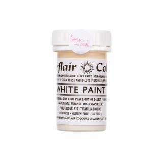 Sugarflair Matt Paint WHITE 20g