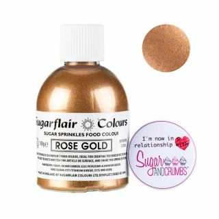 Sugarflair Sugar Shaker ROSE GOLD 100g
