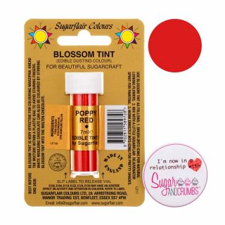 Sugarflair Blossom Tint Edible Dust Matt Poppy Red