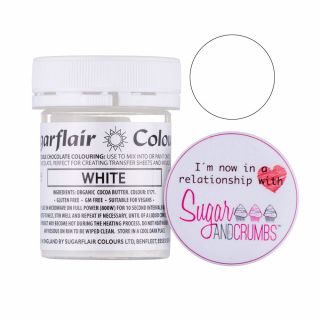 Sugarflair Edible Chocolate Colouring/Paint White 35g