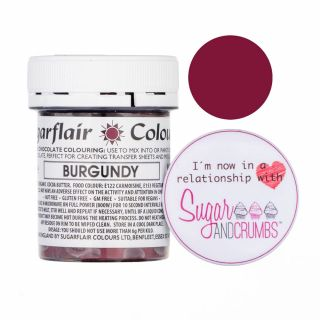 Sugarflair Edible Chocolate Paint Burgundy 35g