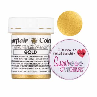 Sugarflair Edible Chocolate Paint Gold 35g