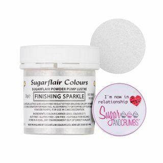 Sugarflair Edible Finishing Sparkle TUB Silver 25g