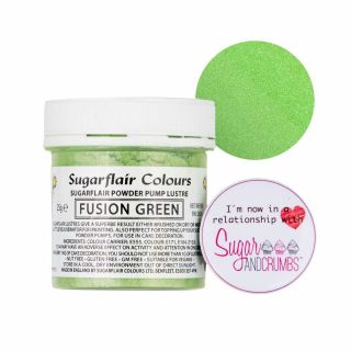 Sugarflair Edible FUSION GREEN Finishing Sparkle TUB 25g