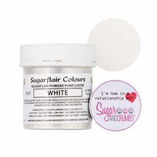 Sugarflair Edible WHITE Finishing Sparkle TUB 25g