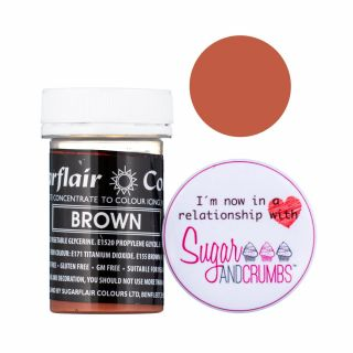Sugarflair Pastel Concentrated Edible Paste Brown