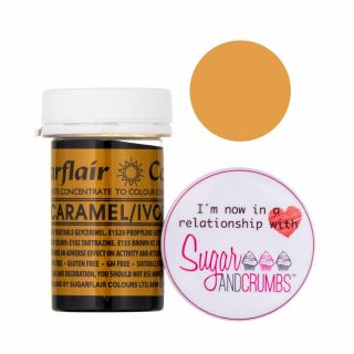 Sugarflair Spectral Concentrated Edible Paste Caramel/Ivory