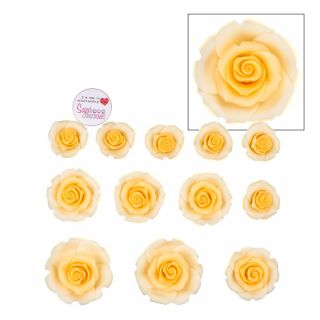 SugarSoft 12 Edible Assorted Peach Mix Roses