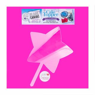 Sweet Stamp Blank Canvas Cake Topper HEXAGON