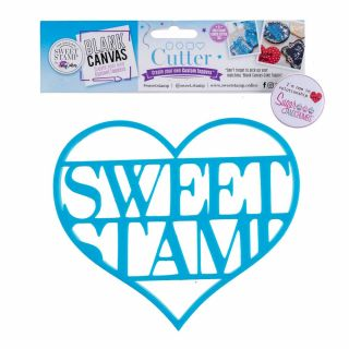Sweet Stamp Blank Canvas CUTTER HEART