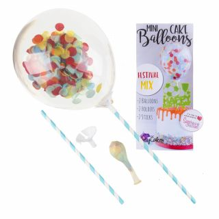 Sweet Stamp Mini Confetti Balloons 2pk FESTIVAL MIX