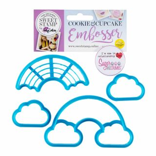 Sweet Stamp Cookie Cutters Rainbow Pack of 4