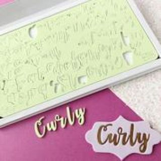 Sweet Stamp CURLY Lettering Set with Presentation Box