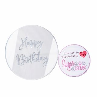 Sweet Stamp Luxury Cake Mirror Tags Silver Pack of 6