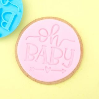 Sweet Stamp Cookie Embosser OH BABY