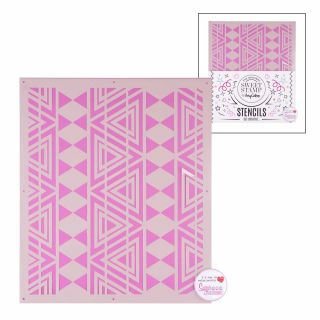 Sweet Stamp Stencil Pattern 1