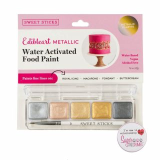 Sweet Sticks Mini Pallette Food Paint METALLICS