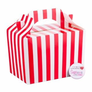 Sweet Treat Box with Handle Striped Red and White.abce