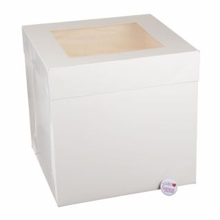 TALL Cake Box With WINDOW Lid White 12x12x12 inch Pack of 1