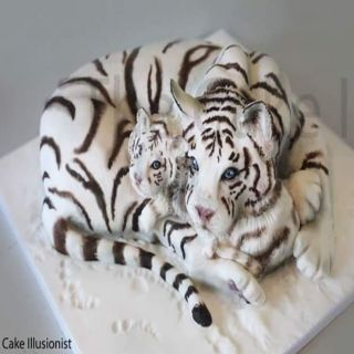 The Cake Illusionist WHITE TIGER and Cub 17 October 2020