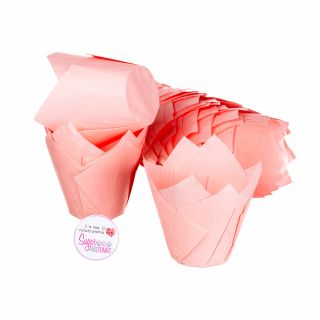 Tulip Muffin Wraps PALE PINK Pack of 50