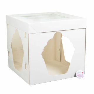 White Giant Cupcake Box 10 inch