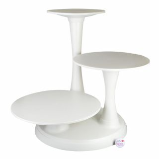 Wilton 3 Tier Pillar Cake Stand White