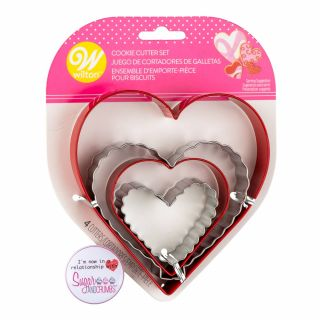 Wilton Cookie Cutter Nesting Hearts Set of 4