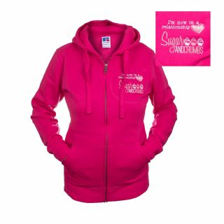 Sugar and Crumbs Zipped Hoodie Large FUCHSIA Size 12 to 14