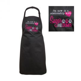 Sugar and Crumbs Apron BLACK One Size