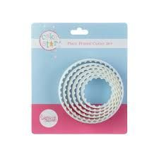 Cake Star PLAIN/FLUTED CUTTERS Set of 6