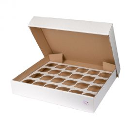 Cupcake Box HEAVY DUTY Fits 24 Pack of 5
