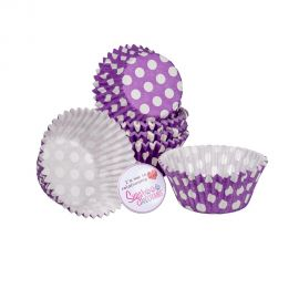 Cake Star Cupcake Cases PURPLE SPOT Pack of 54