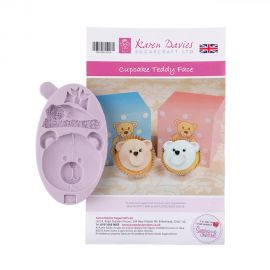 Karen Davies Silicone Mould Cupcake Teddy Face
