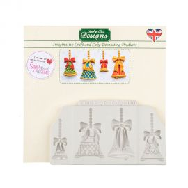 Katy Sue Silicone Mould CHRISTMAS BELLS
