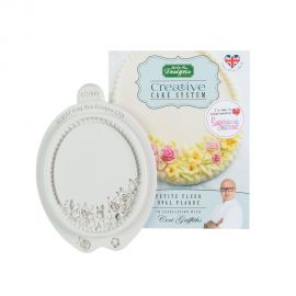 Katy Sue Creative Cake Systems Silicone Mould PETITE FLEUR OVAL PLAQUE