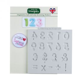 Katy Sue Silicone Mould LARGE DOMED NUMBERS