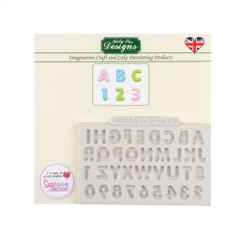 Katy Sue Silicone Mould MINI DOMED ALPHABET AND NUMBERS