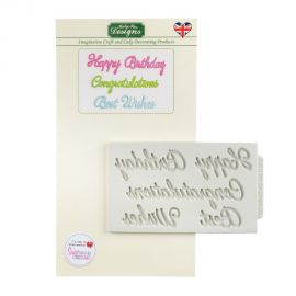Katy Sue Silicone Mould WORD PERFECT BIRTHDAY SET