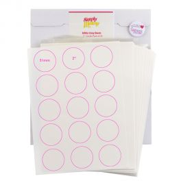 Simply Making EDIBLE ICING SHEETS 2 Inch Circles Pack of 24