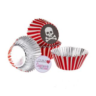 Baked with Love Cupcake Foil Cases PIRATE Pack of 25