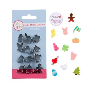 Cake Star Mini Metal Cutters SEASONAL Set of 12