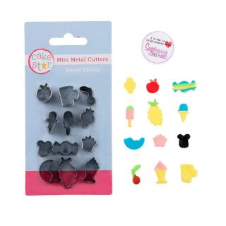 Cake Star Mini Metal Cutters SWEET TREATS Set of 12