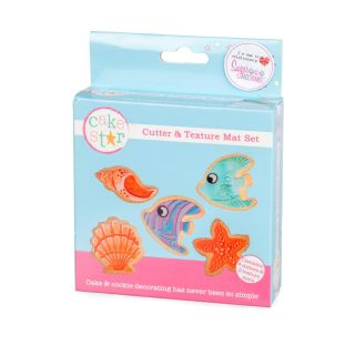 Cake Star Texture Mat and Cutter Set UNDER THE SEA